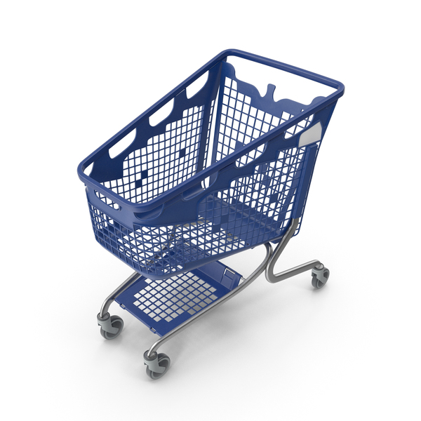 Cart: PP Plastic Shopping Trolley 210L PNG & PSD Images
