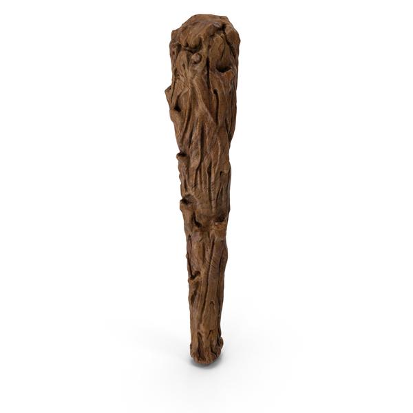Prehistoric Wooden Caveman Club PNG & PSD Images