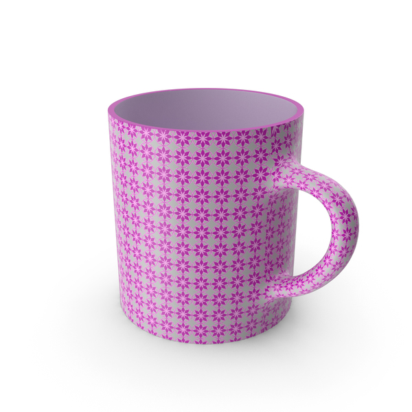 Printed Pink Flower Cup PNG & PSD Images