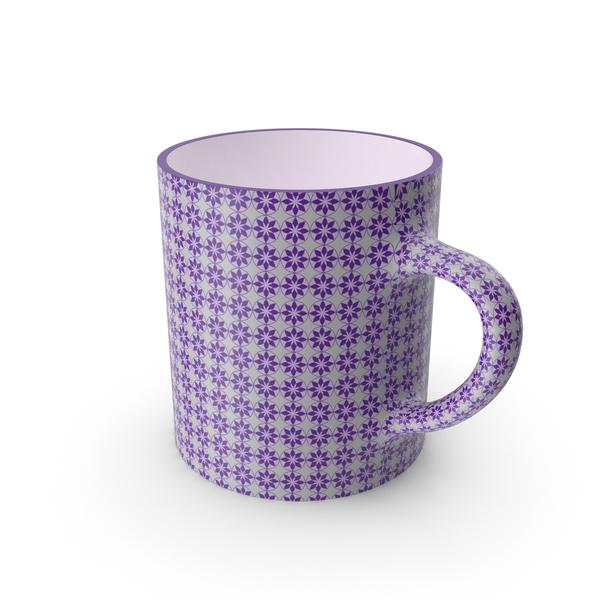 Teacup: Printed Violet Cup PNG & PSD Images