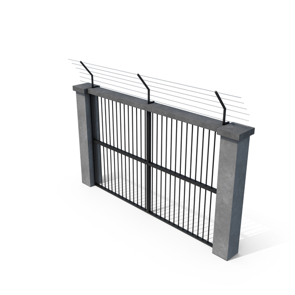 Barbed Wire Fence: Prison Gate Closed PNG & PSD Images