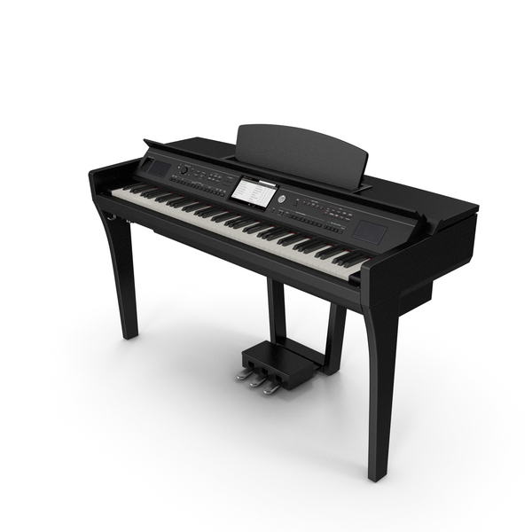 Professional Digital Piano Black PNG & PSD Images
