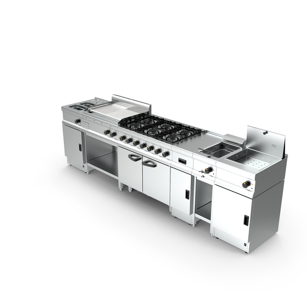 Professional Inox Kitchen Equipment Set PNG & PSD Images
