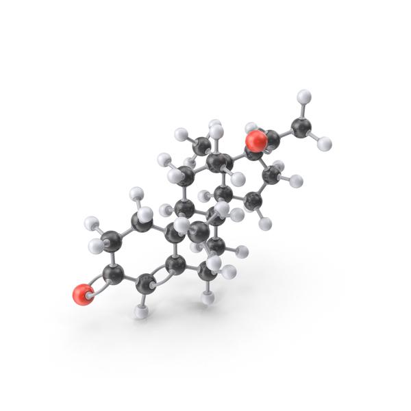 Progesterone Molecule PNG & PSD Images