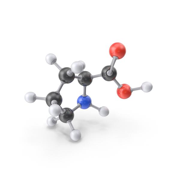 Proline Molecule PNG & PSD Images