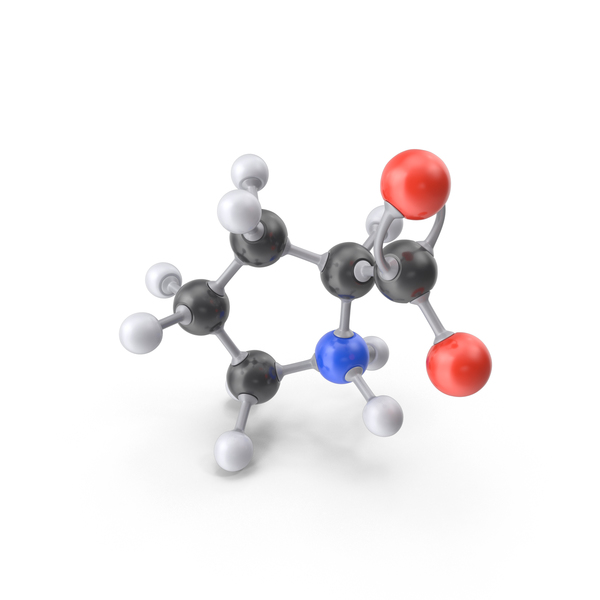 Proline Zwitterion Molecule PNG & PSD Images