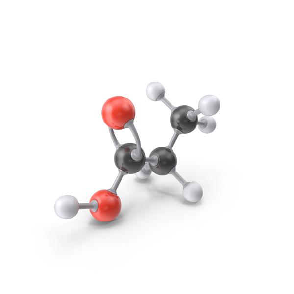 Propionic Acid Molecule PNG & PSD Images
