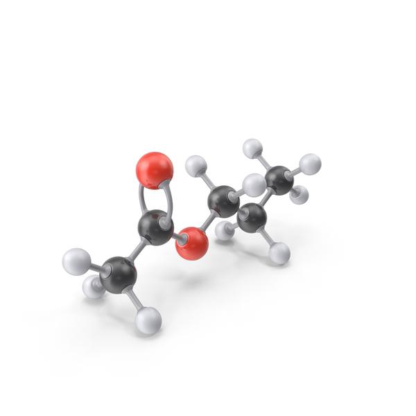 Propyl Acetate Molecule PNG & PSD Images