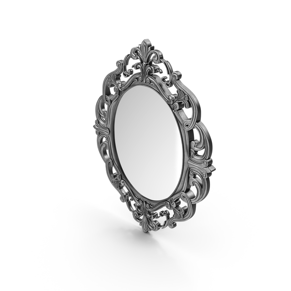 Provincial Oval Carved Mirror PNG & PSD Images