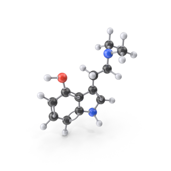 Psilocin Molecule PNG & PSD Images