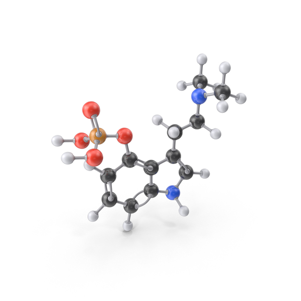 Psilocybin Molecule PNG & PSD Images