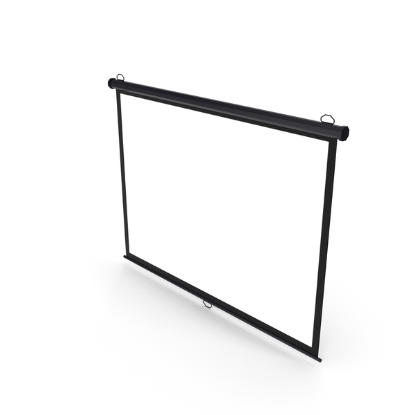 Movie: Pull Down Projection Screen Wall Ceiling Mounted Black PNG & PSD Images