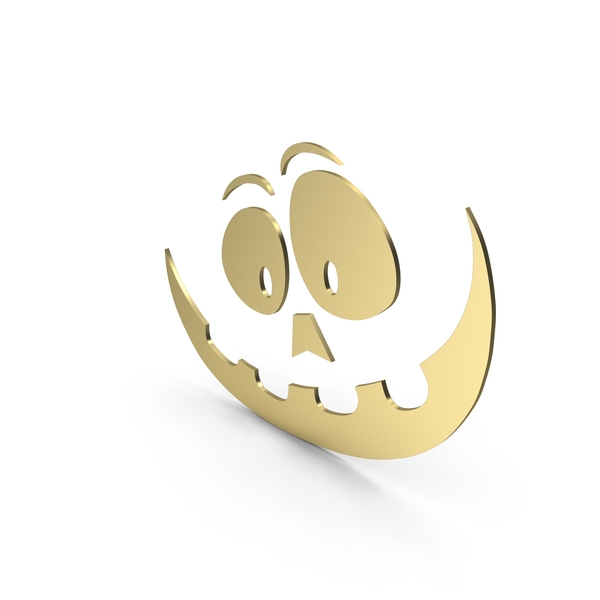 Pumpkin Figure Cartoony Gold PNG & PSD Images