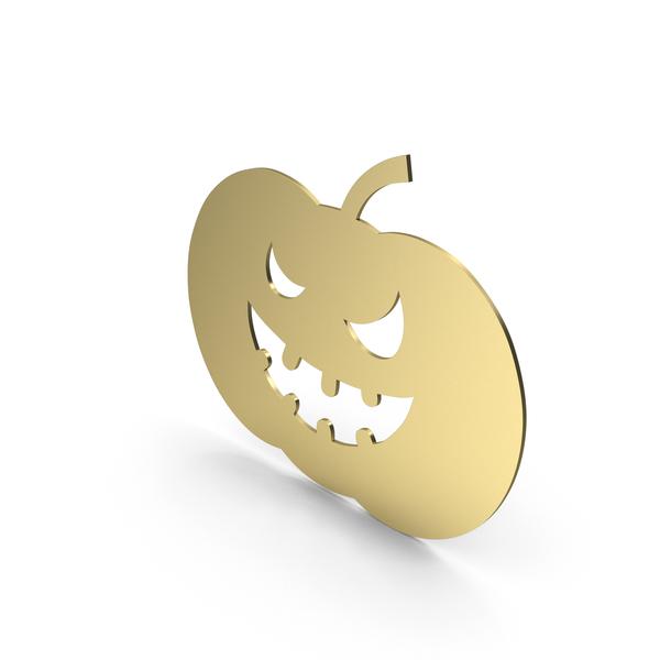 Pumpkin Figure Gold PNG & PSD Images