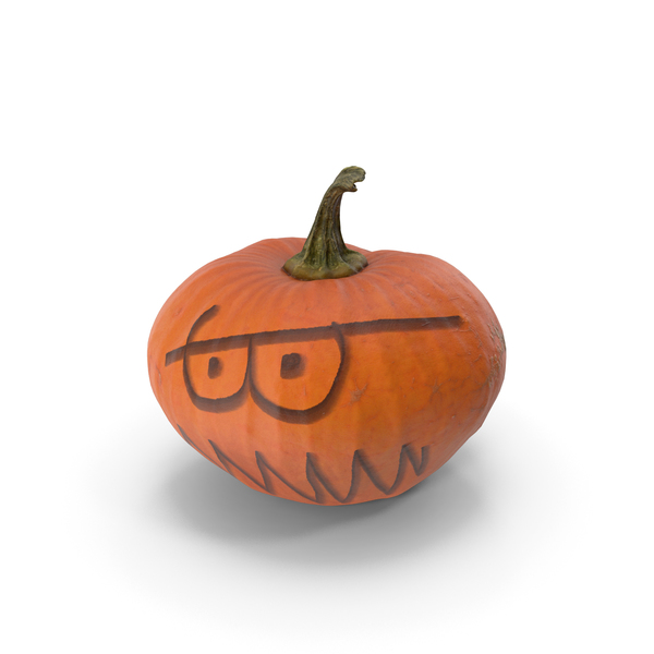 Pumpkin Halloween Face PNG & PSD Images