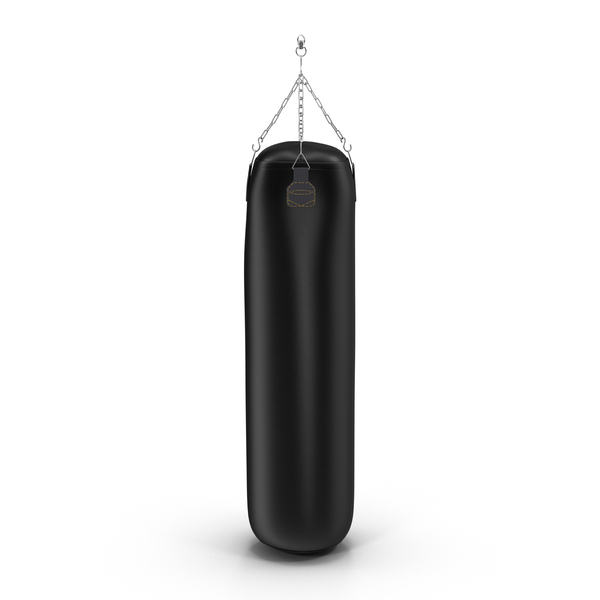Punching Bag Black Generic Object
