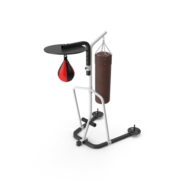 Speed Bag: Punching Bags Stand PNG & PSD Images
