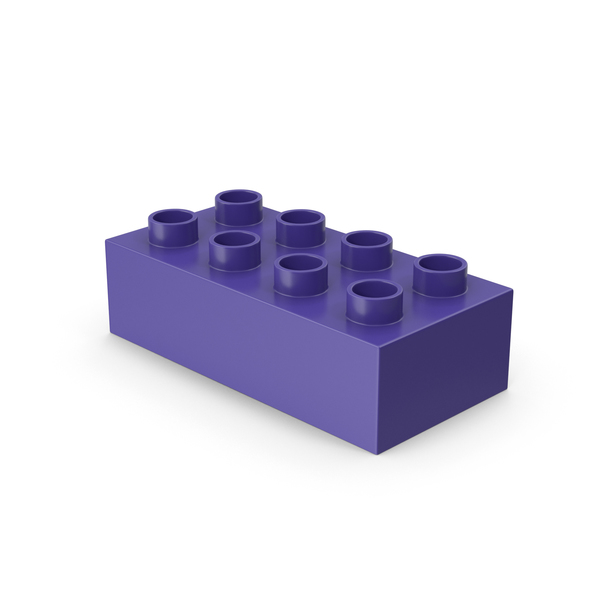 Building Block: Purple 2x4 Lego PNG & PSD Images