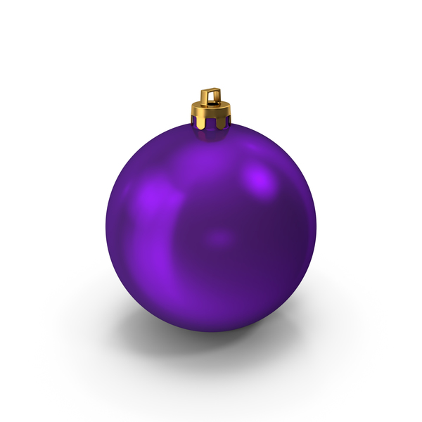 Purple Christmas Ornament PNG & PSD Images