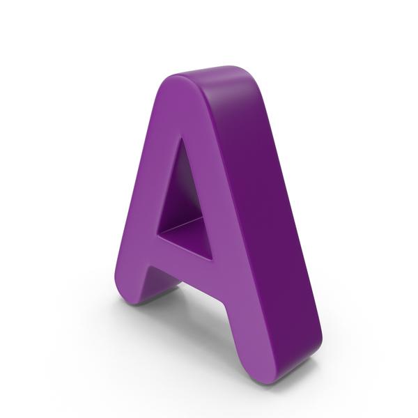 Purple Letter A PNG & PSD Images