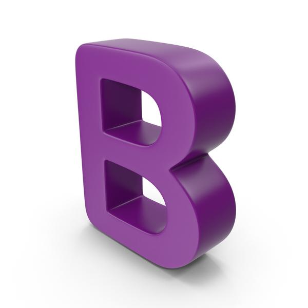 Purple Letter B PNG & PSD Images