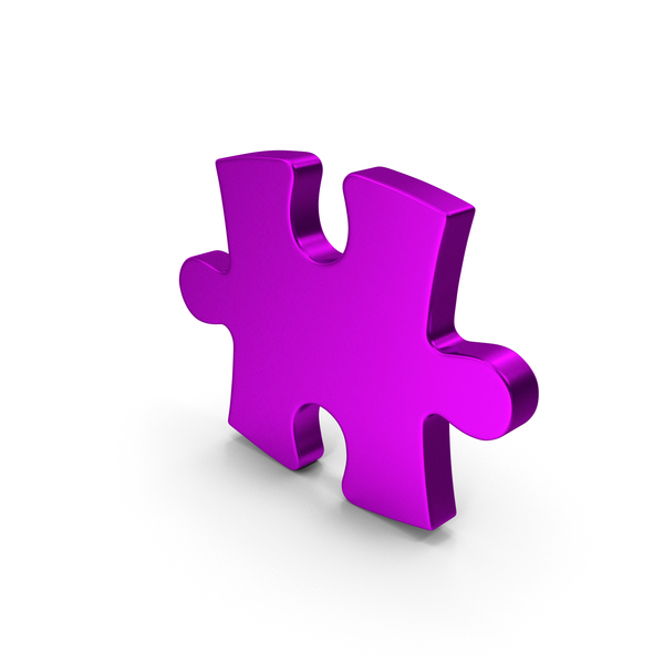 Jigsaw: Purple Metallic Puzzle PNG & PSD Images