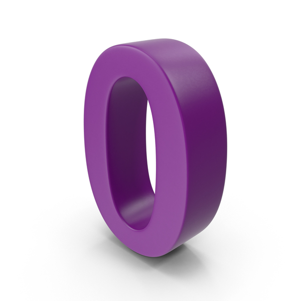 Purple Number 0 PNG & PSD Images