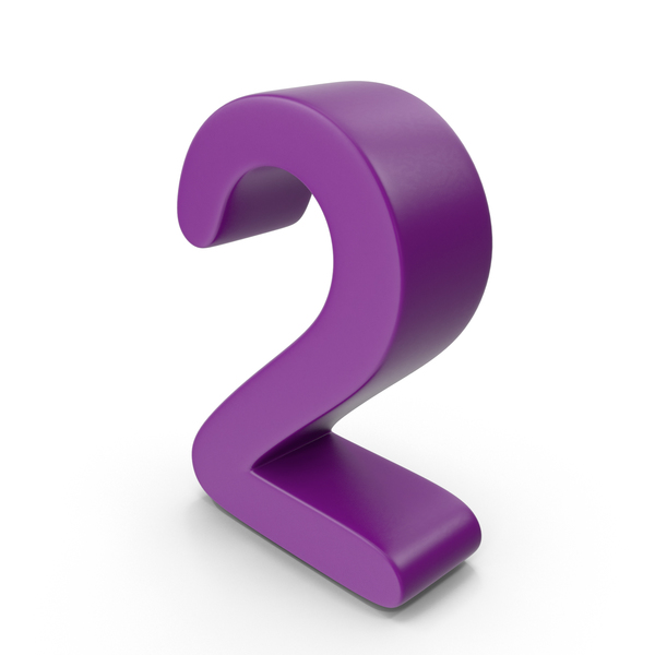 Purple Number 2 PNG & PSD Images