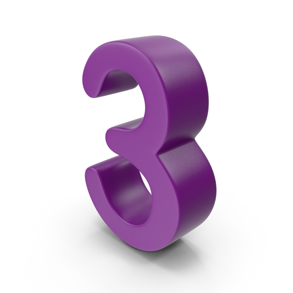 Purple Number 3 PNG & PSD Images
