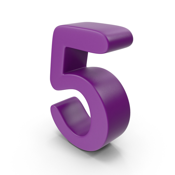 Purple Number 5 PNG & PSD Images