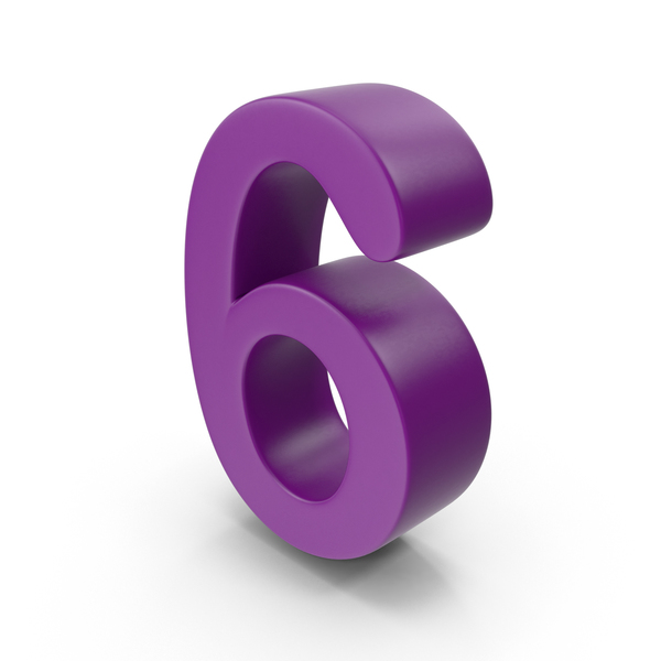 Purple Number 6 PNG & PSD Images