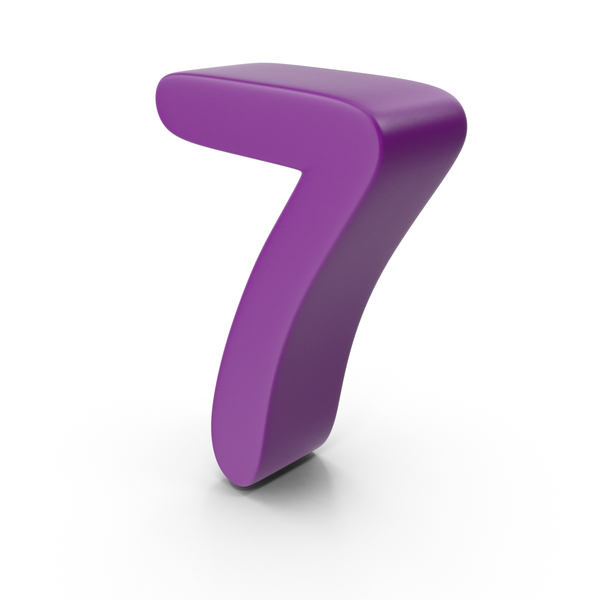 Purple Number 7 PNG & PSD Images