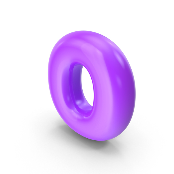 Purple Toon Balloon Letter O PNG & PSD Images