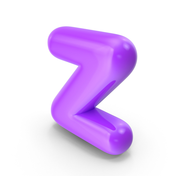 Purple Toon Balloon Letter Z PNG & PSD Images