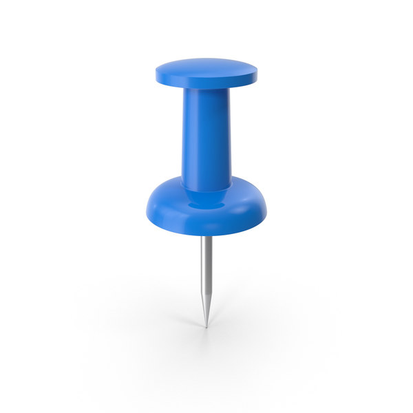 Push Pin Blue PNG & PSD Images