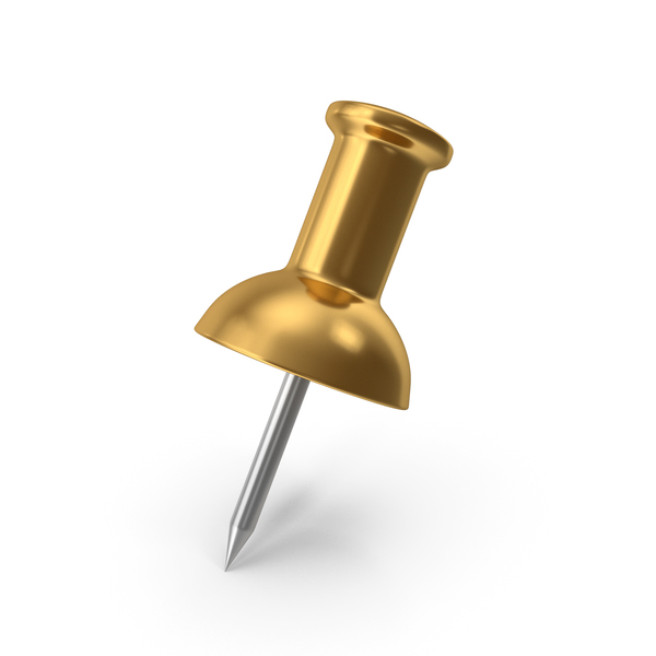 Push Pin Gold PNG & PSD Images