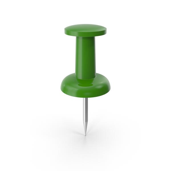 Push Pin Green PNG & PSD Images