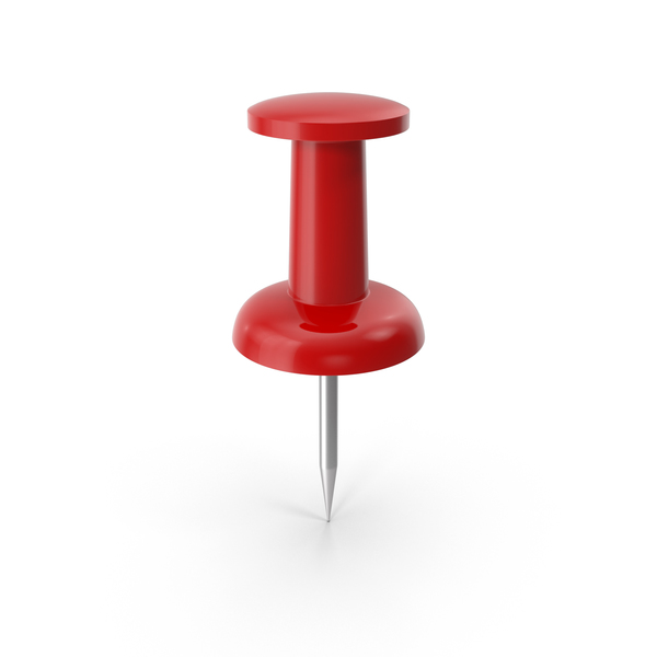Push Pin Red PNG & PSD Images
