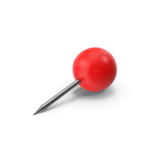 Push Pin Sphere Red PNG & PSD Images