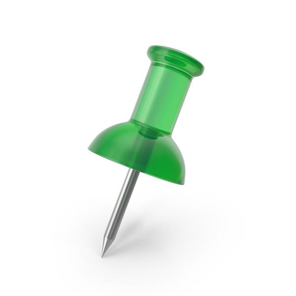 Push Pin Transparent Green PNG & PSD Images