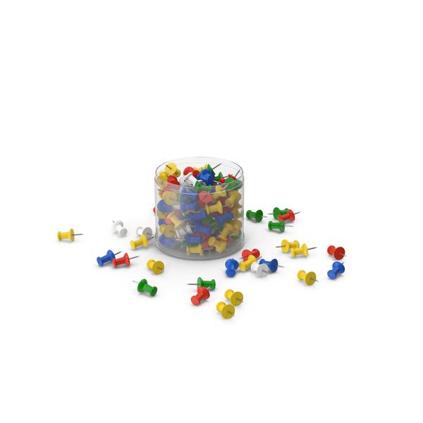 Push Pins Plastic Box PNG & PSD Images