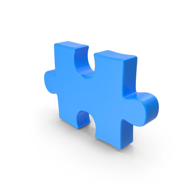 Puzzle Piece Blue PNG & PSD Images