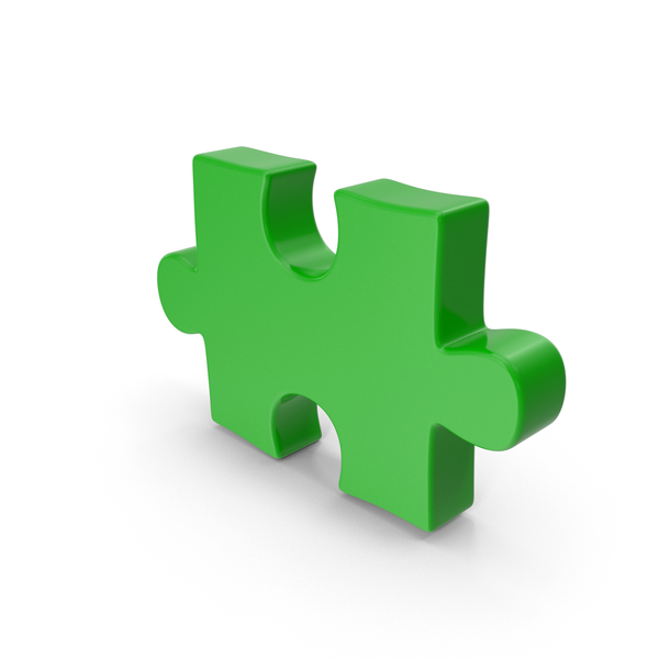 Puzzle Piece Green PNG & PSD Images