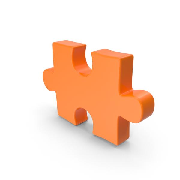 Jigsaw: Puzzle Piece Orange PNG & PSD Images