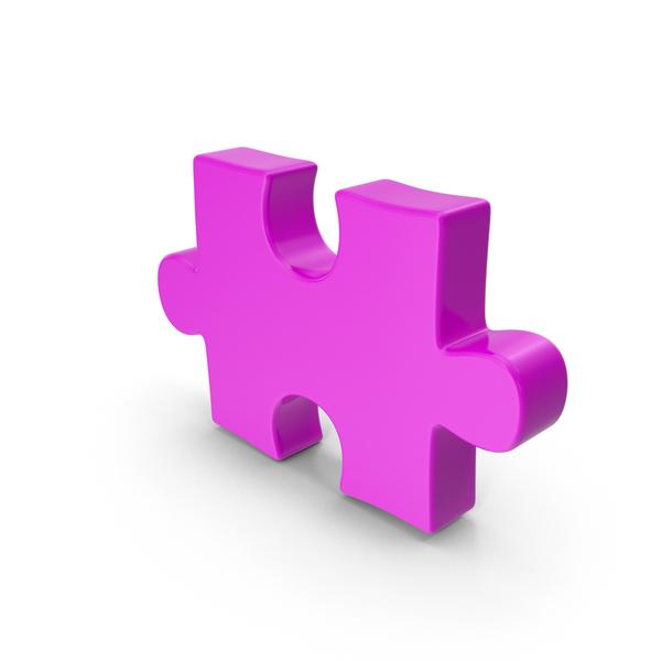 Puzzle Piece Purple PNG & PSD Images