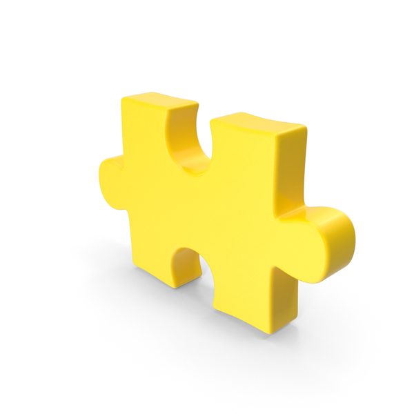 Puzzle Piece Yellow PNG & PSD Images