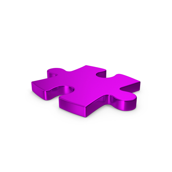 Jigsaw: Puzzle Purple Metallic PNG & PSD Images