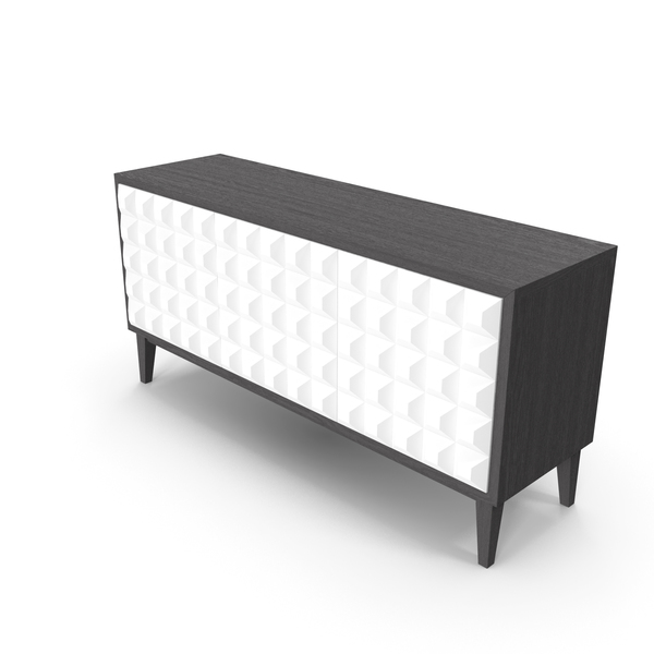 Sideboard: Pyramid Cabinet White PNG & PSD Images