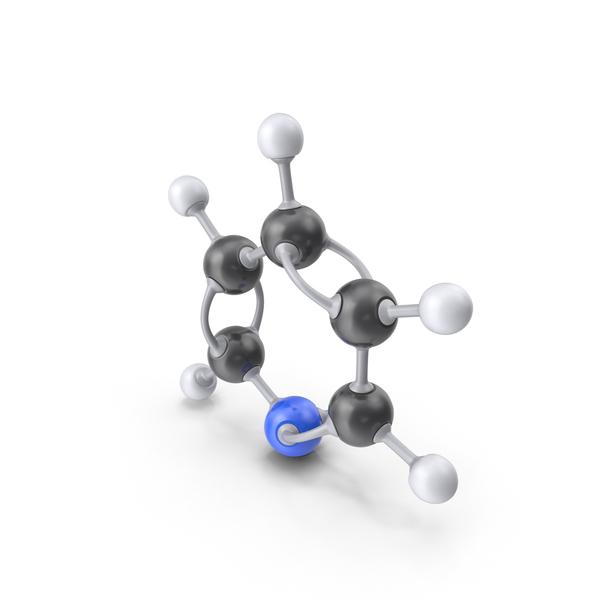 Pyridine Molecule PNG & PSD Images