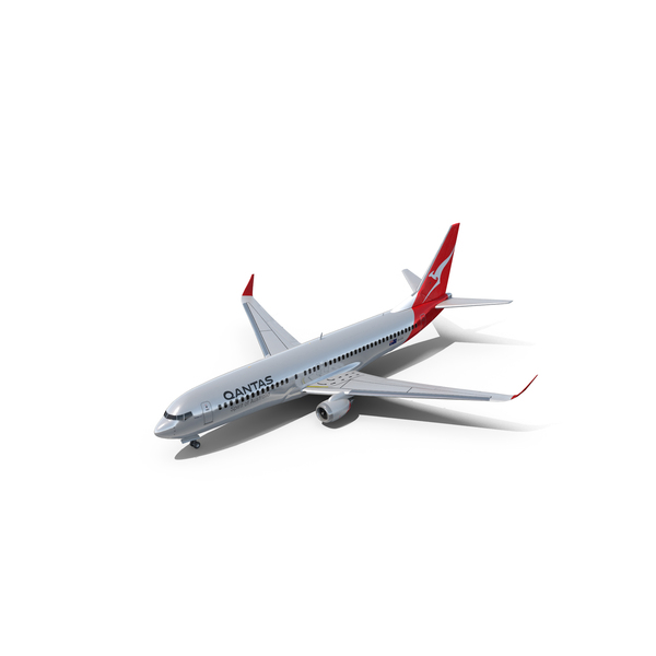 Qantas BOEING 737 PNG & PSD Images